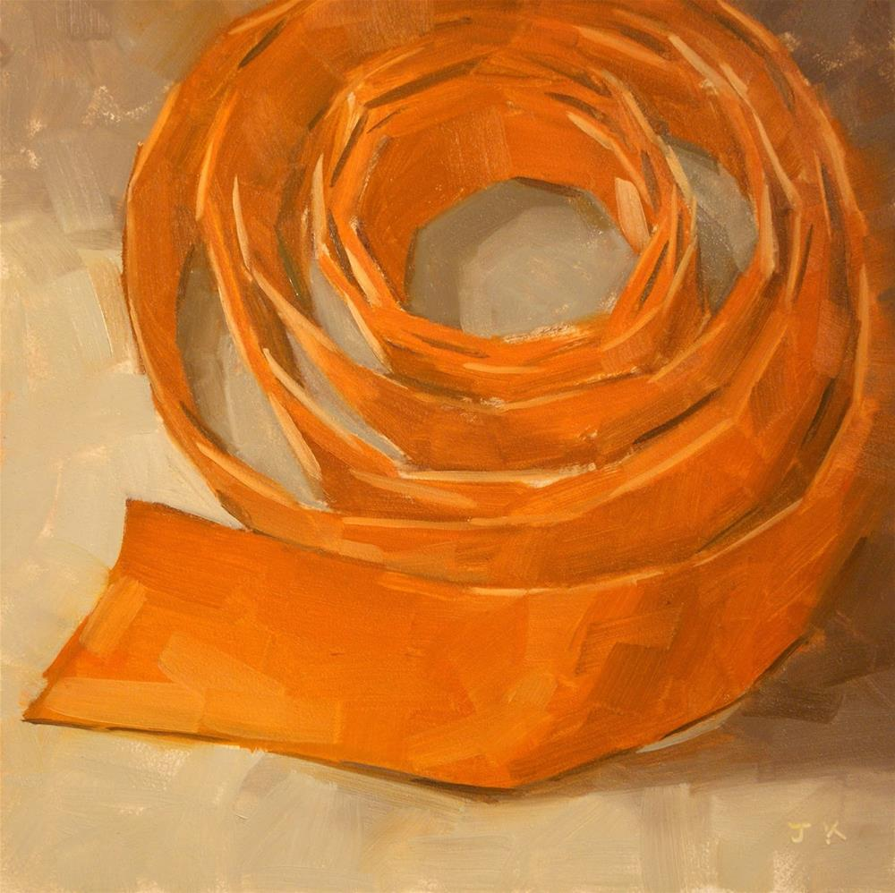"""Ribbon Study - 'Orange Circles'"" original fine art by Jiyoung Kim"