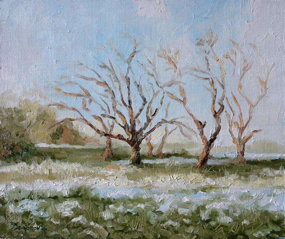 """spring trees"" original fine art by Juri Semjonov"