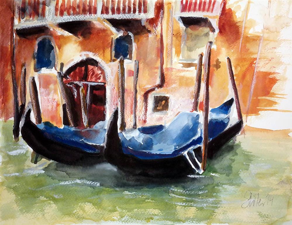 """""""1211 Gondola"""" original fine art by Dietmar Stiller"""