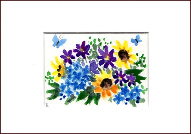 """Mixed Spring Bouquet"" original fine art by Patricia Ann Rizzo"