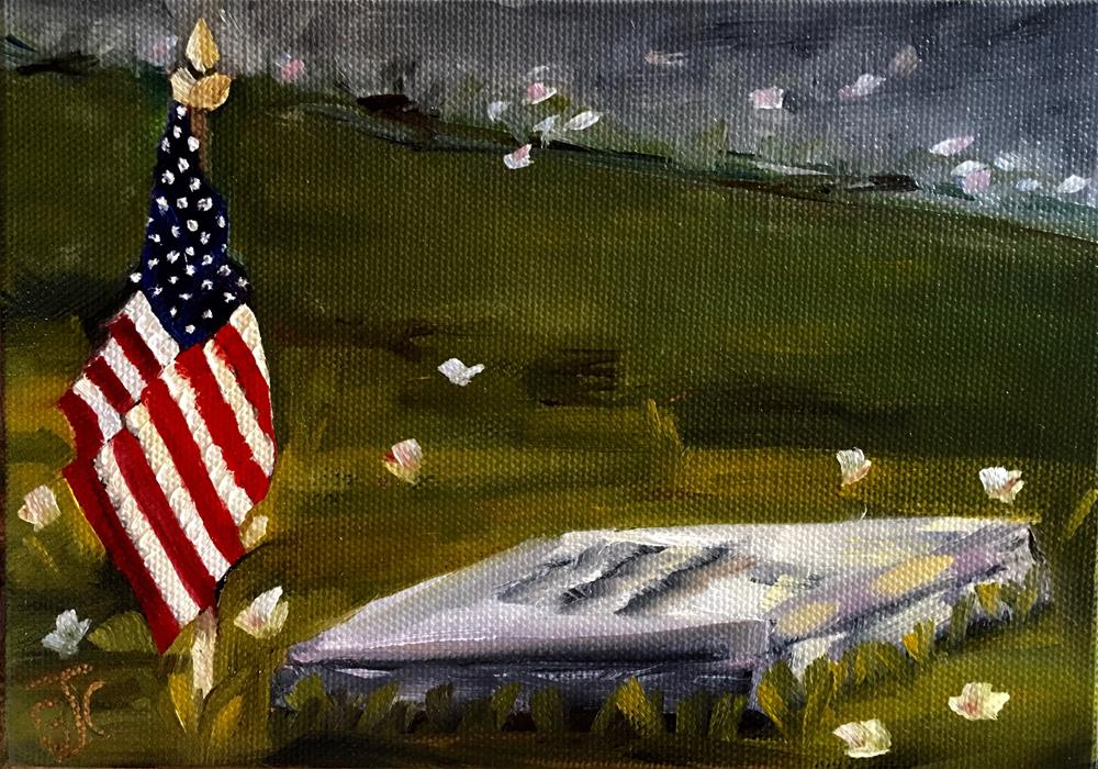 """Memorial Day Observance"" original fine art by Bobbie Cook"