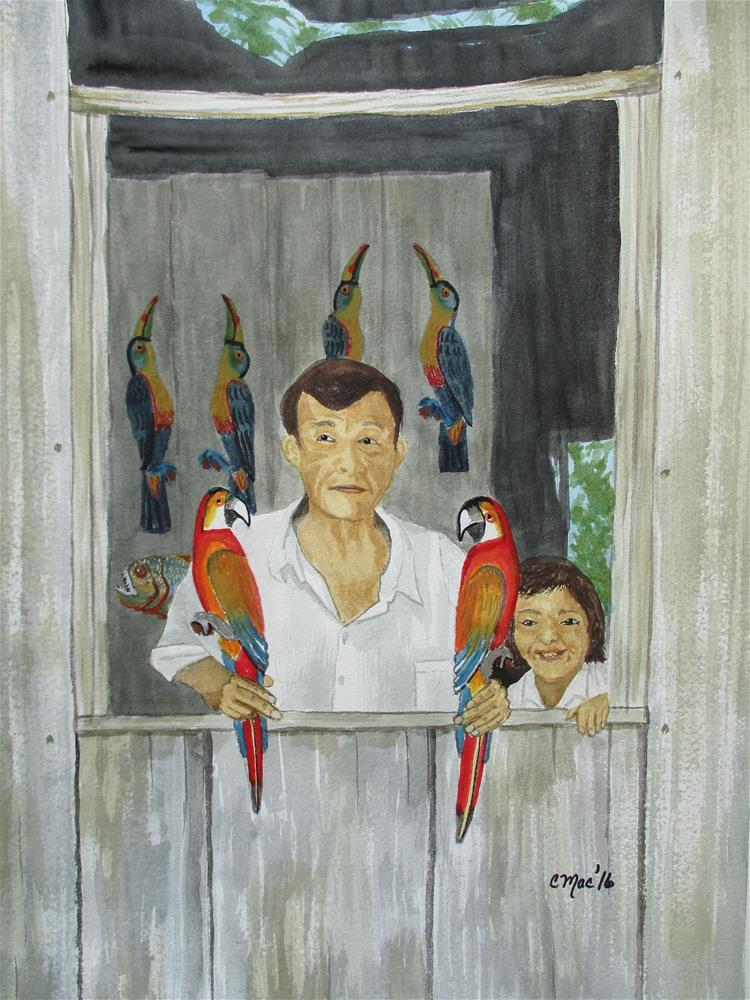 """""""Don Geimar Rios, Iquitos, Peru"""" original fine art by Chris MacCormack"""