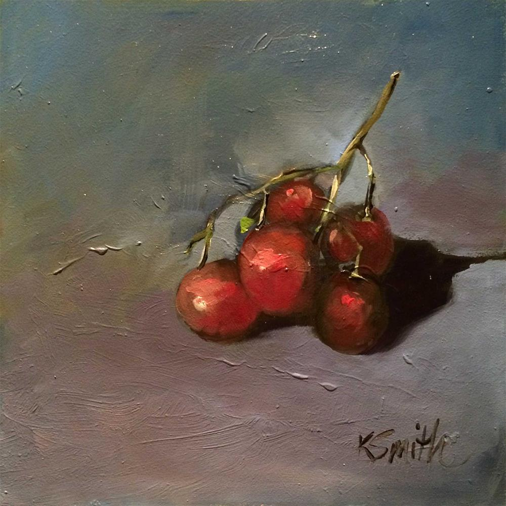 """grapes"" original fine art by Kim Smith"