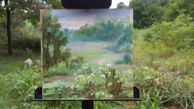 """""""Misty Meadow"""" original fine art by Tammie Dickerson"""