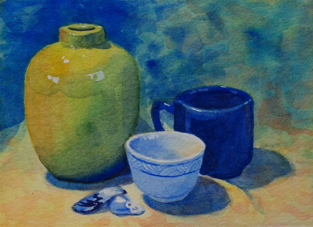 """Still Life with Mussel Shells"" original fine art by Susan McManamen"
