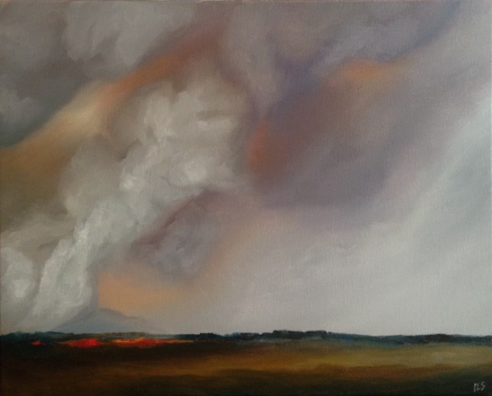 """Wildfire"" original fine art by ~ces~ Christine E. S. Code"
