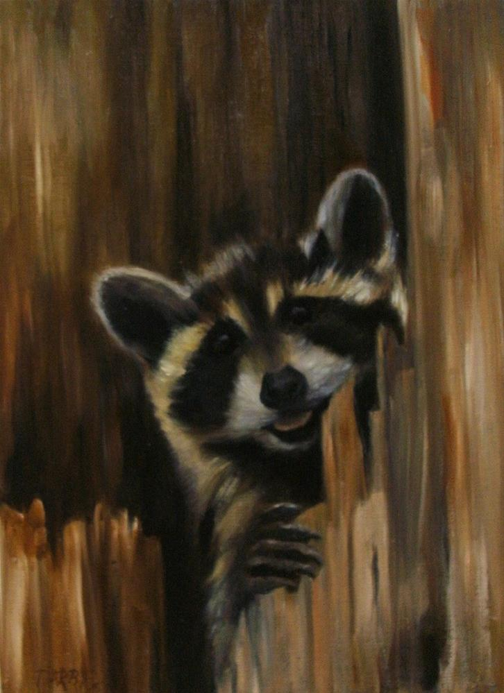 """Peek A Boo"" original fine art by Lynn Darby"