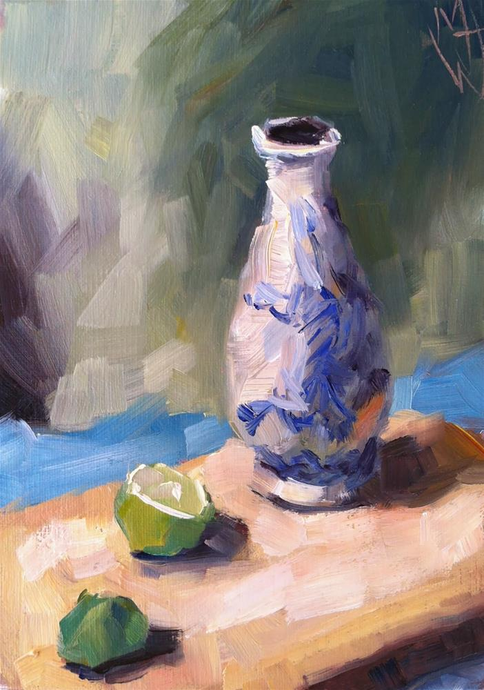 """Vase and Lime"" original fine art by Michael Williamson"
