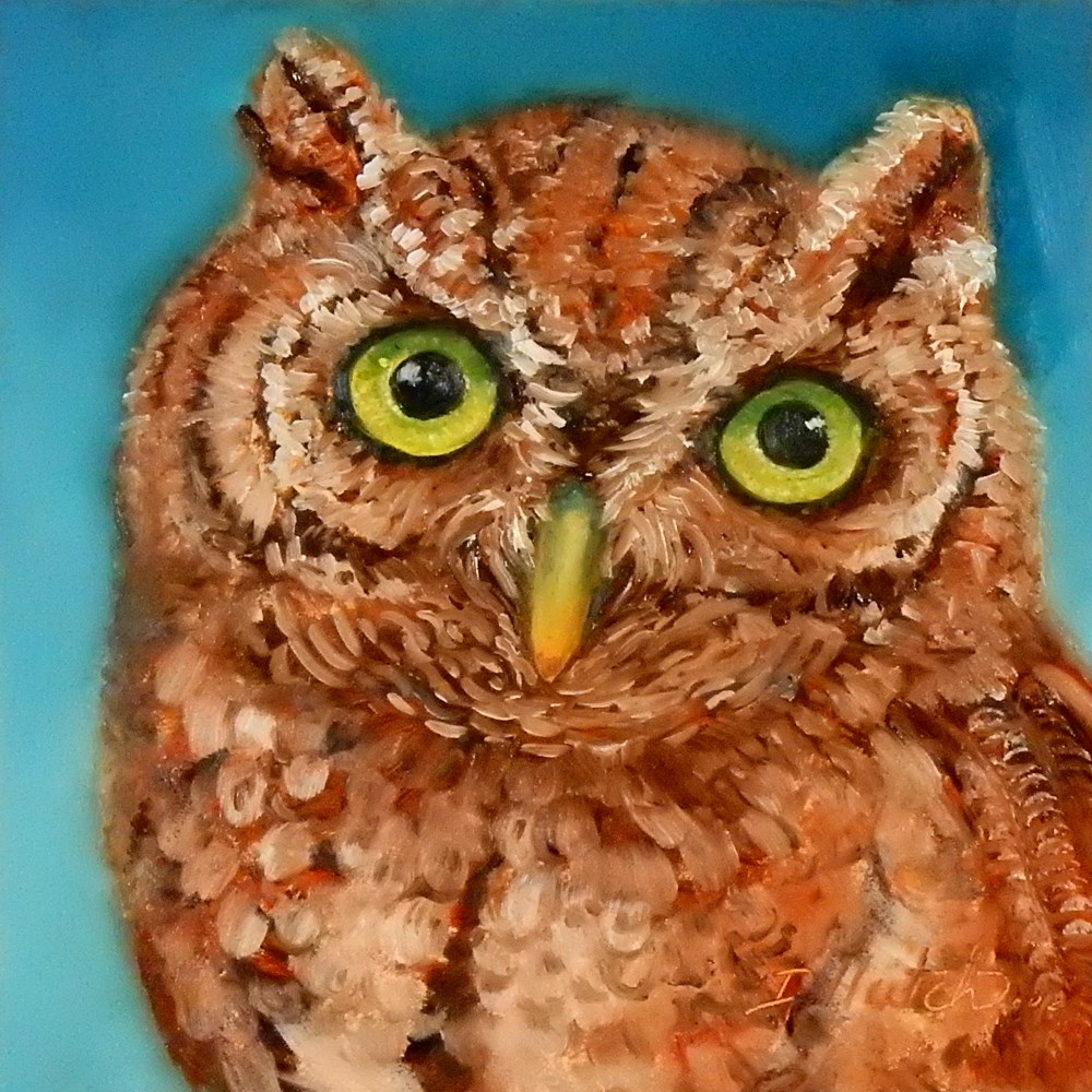 """Owl #3"" original fine art by Diane Hutchinson"