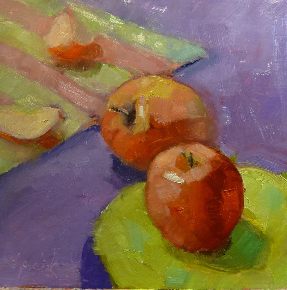 """Apples"" original fine art by Carol Josefiak"