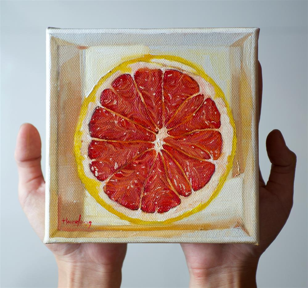 """Grapefruit in a box"" original fine art by Haze Long"