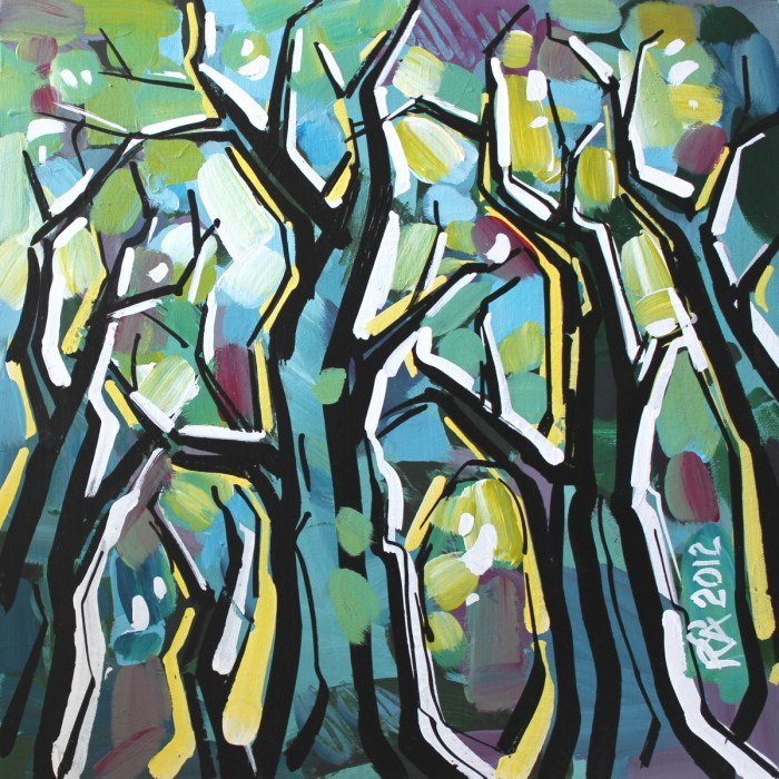 """Tree abstraction 16"" original fine art by Roger Akesson"