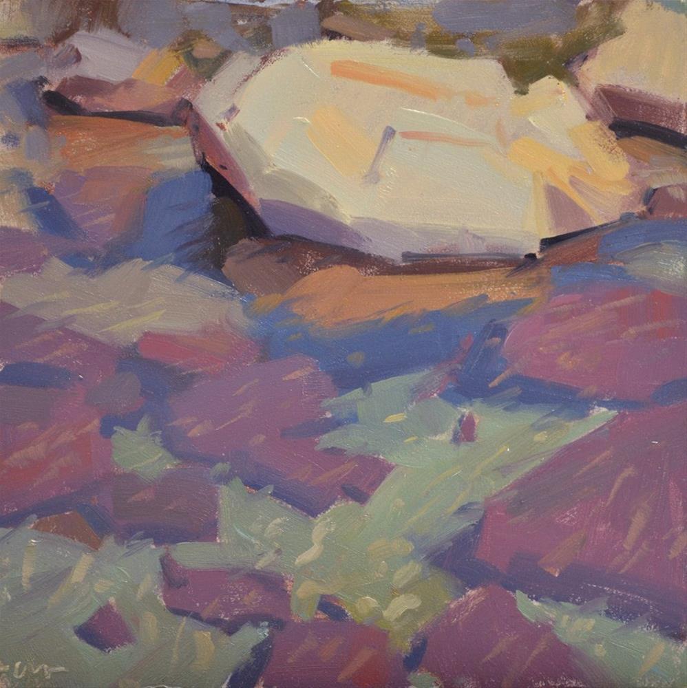 """Water and Rocks I"" original fine art by Carol Marine"