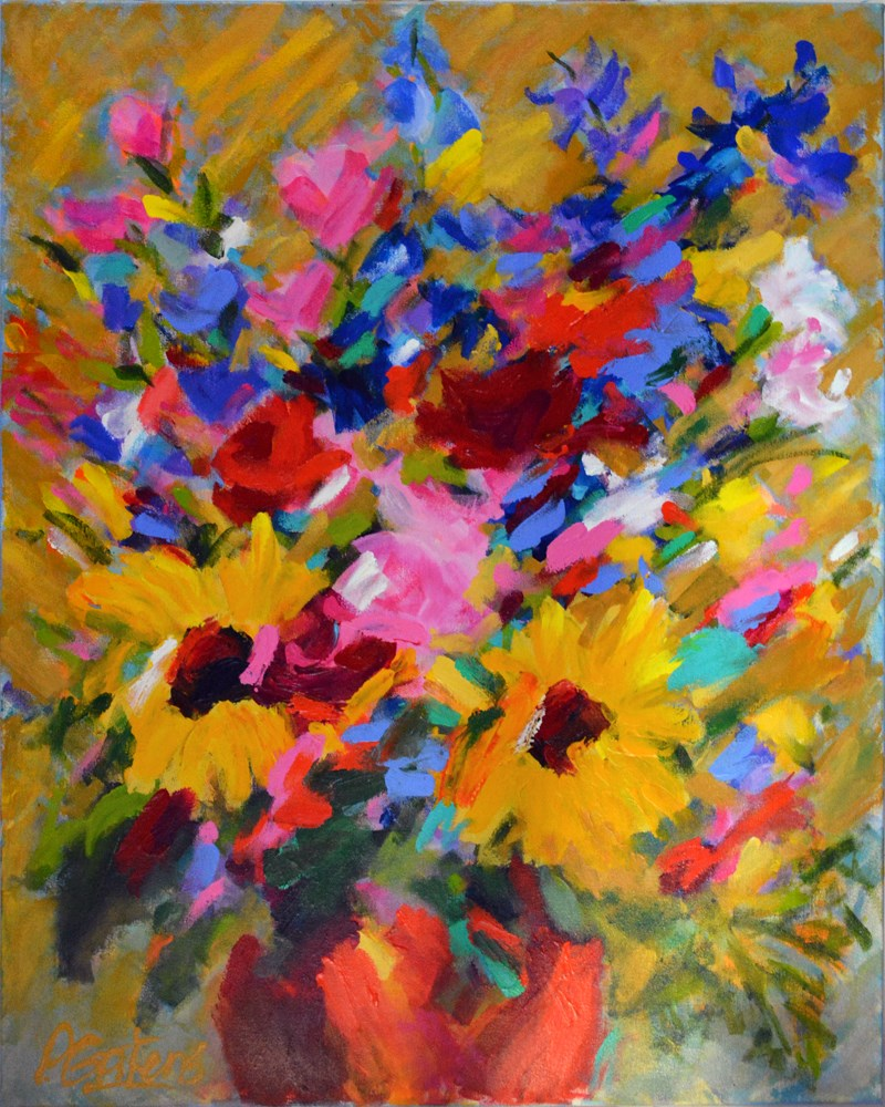 """Dianne's Bouquet"" original fine art by Pamela Gatens"
