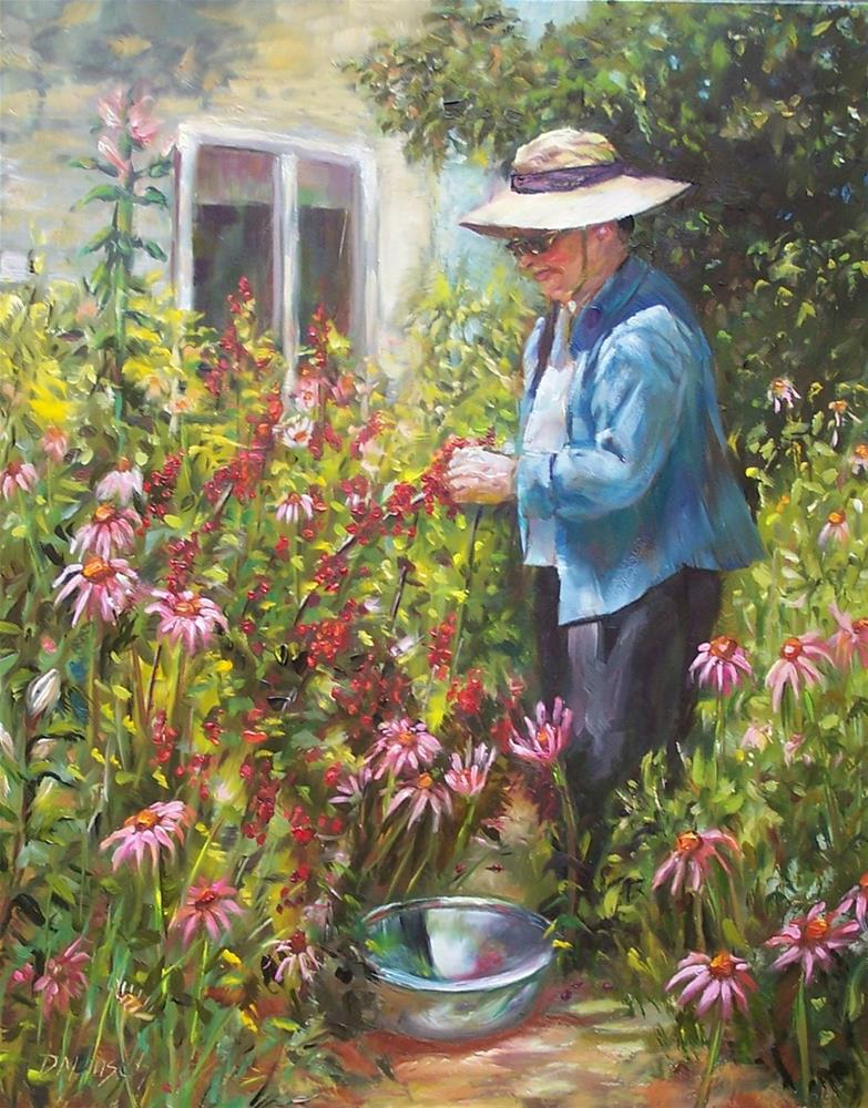 """The Gardener"" original fine art by Donna Munsch"