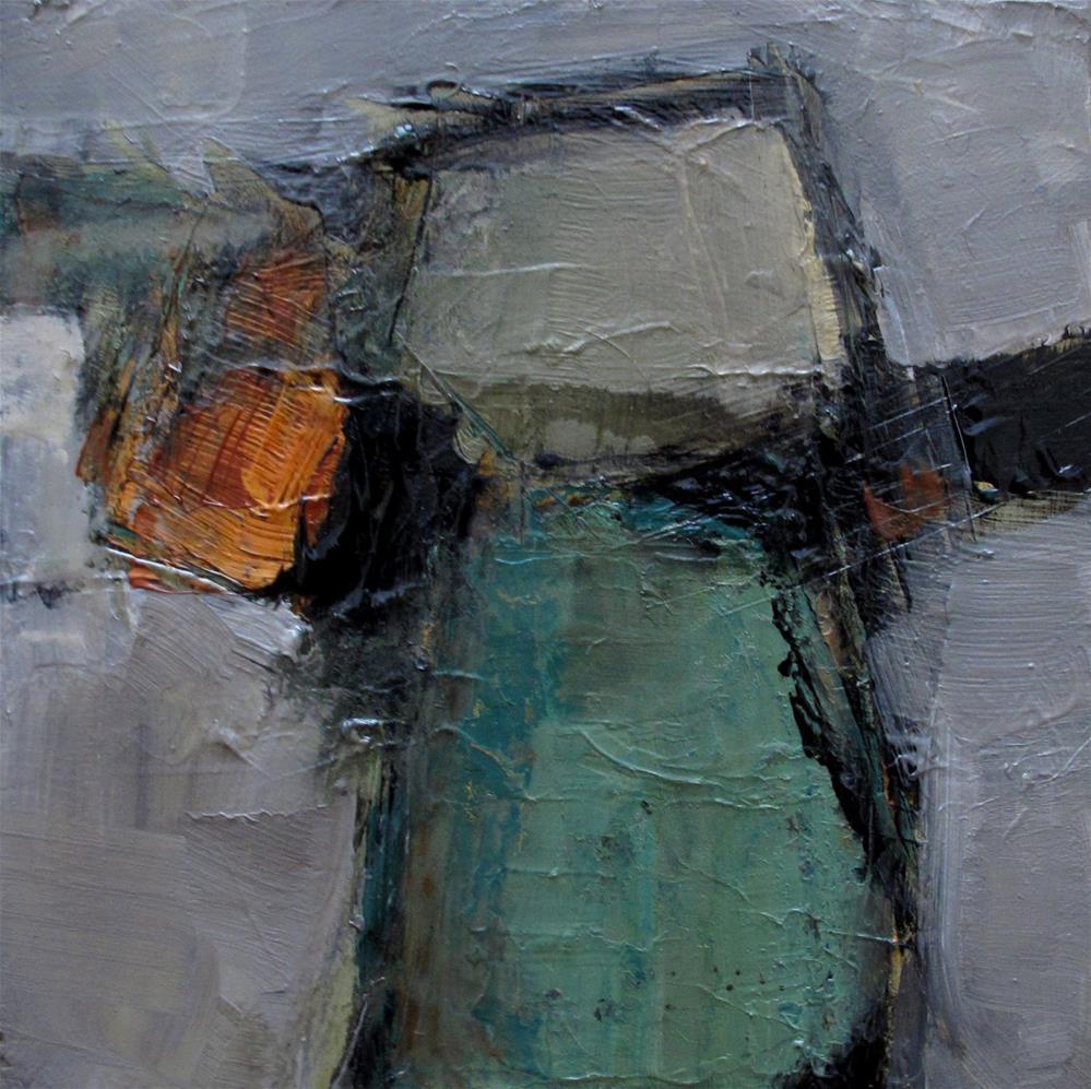"""A NEW BOHEMIAN Original Abstract 4X4 Painting OIL"" original fine art by Colette Davis"
