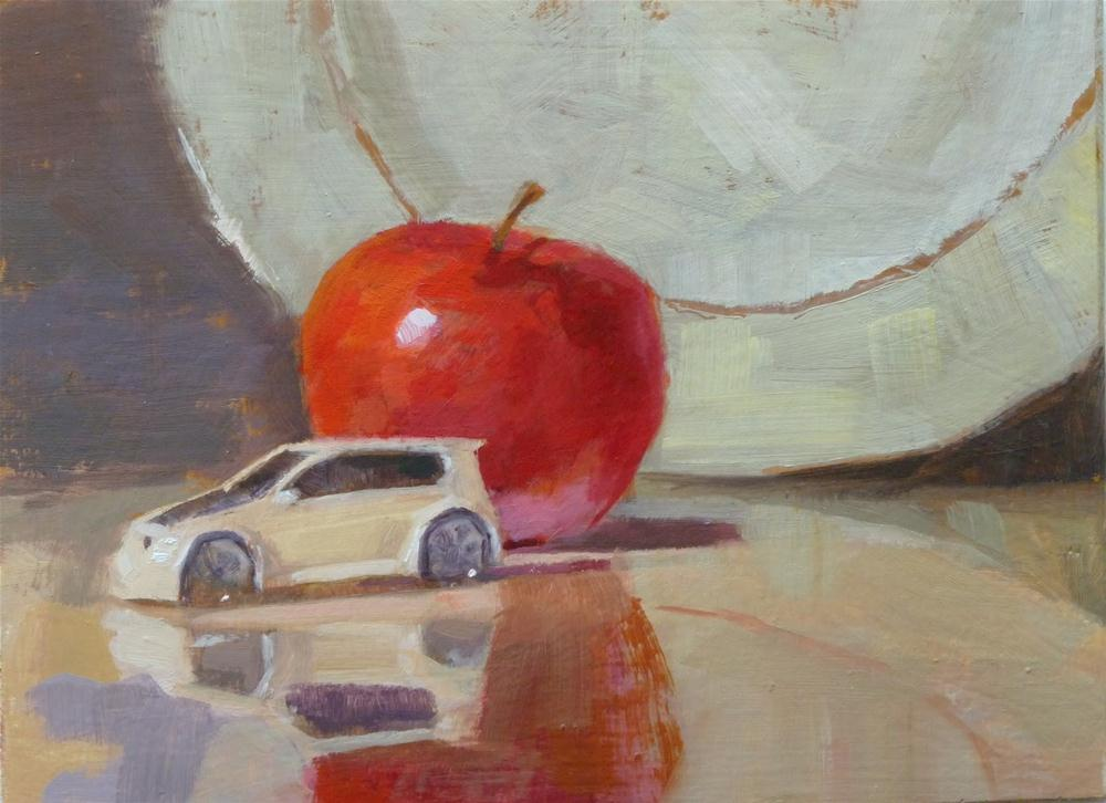 """VW Apple"" original fine art by Ron Ferkol"