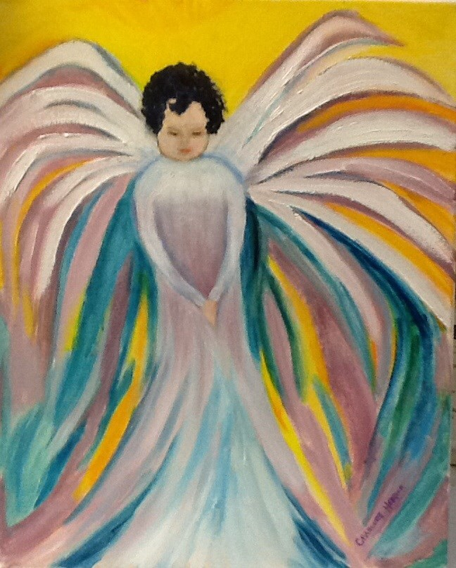 """Annabelle's Angel"" original fine art by Charlotte Bankhead Hedrick"