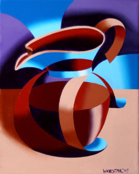 """Mark Adam Webster - Futurist Abstract Coffee Pot Oil Painting"" original fine art by Mark Webster"