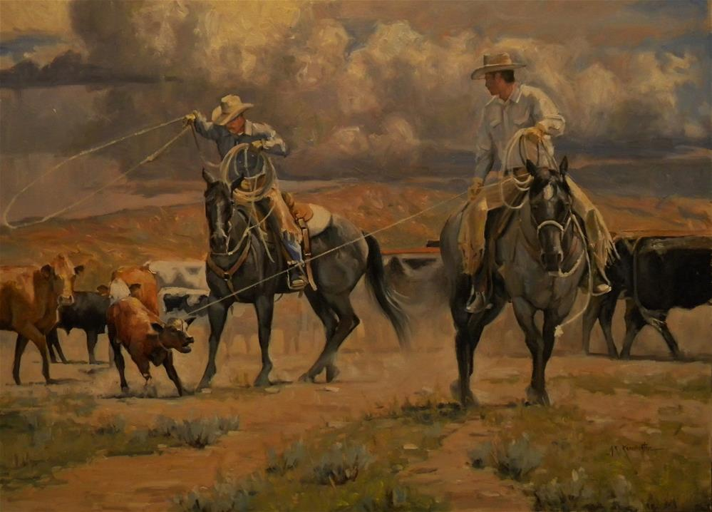 """Another Day at the Office"" original fine art by Rick Kennington"