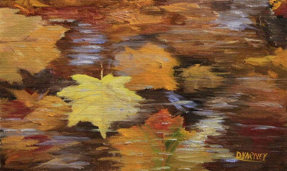 """Leaves in water"" original fine art by Daniel Varney"