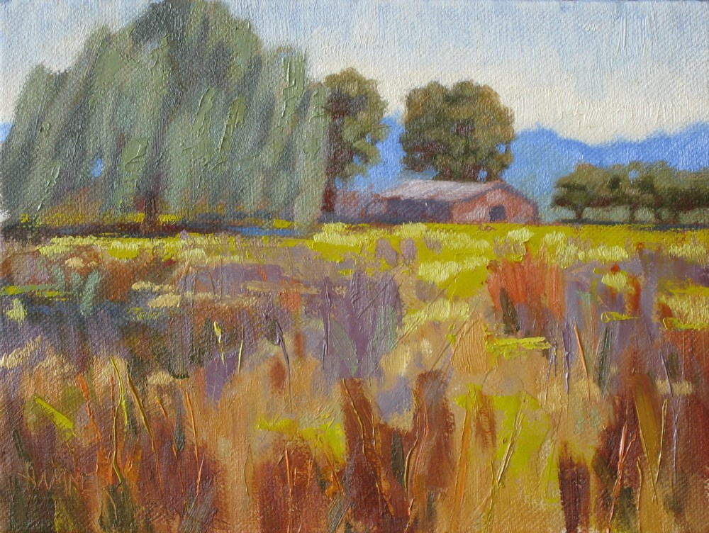 """""""Weeping willow 6x8 oil"""" original fine art by Claudia Hammer"""