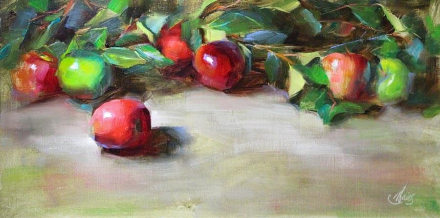 """Apples"" original fine art by Pamela Blaies"