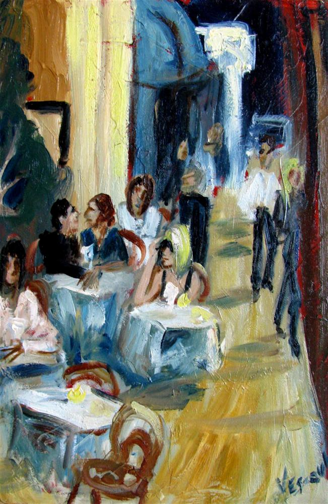 """Doing Lunch"" original fine art by Valerie Vescovi"