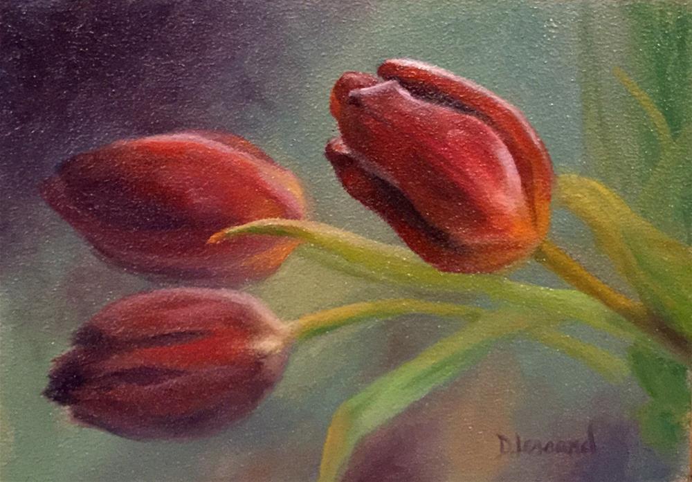"""Tip Toe #1618"" original fine art by Dee Lessard"