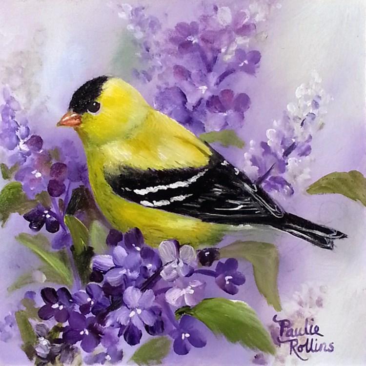 """Gold 'N Purples"" original fine art by Paulie Rollins"