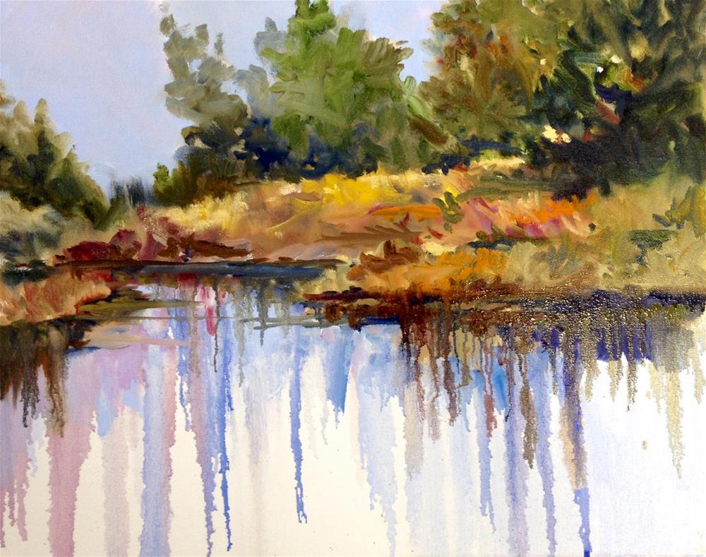 """Marsh Melt"" original fine art by Cathy Boyd"