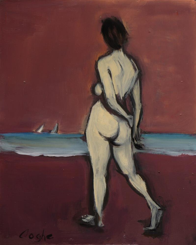 """On Purple Sands"" original fine art by Angela Ooghe"