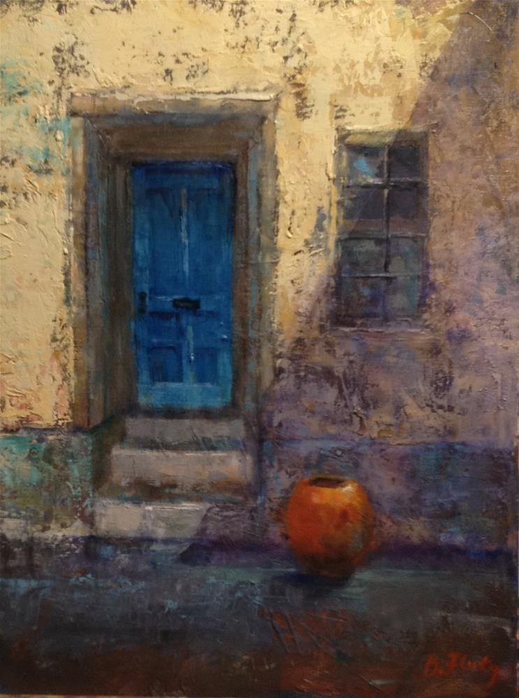 """Blue Door"" original fine art by Barbara Fluty"