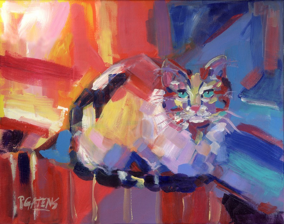 Calico Abstract original fine art by Pamela Gatens