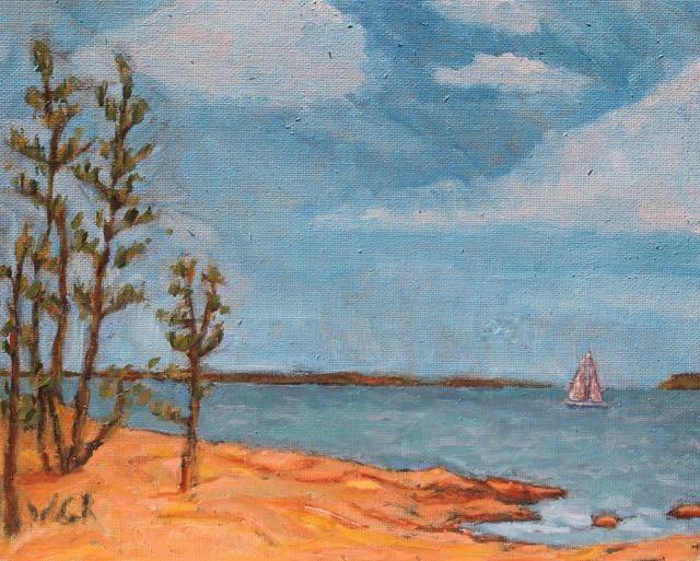 """Maine"" original fine art by William Cook"