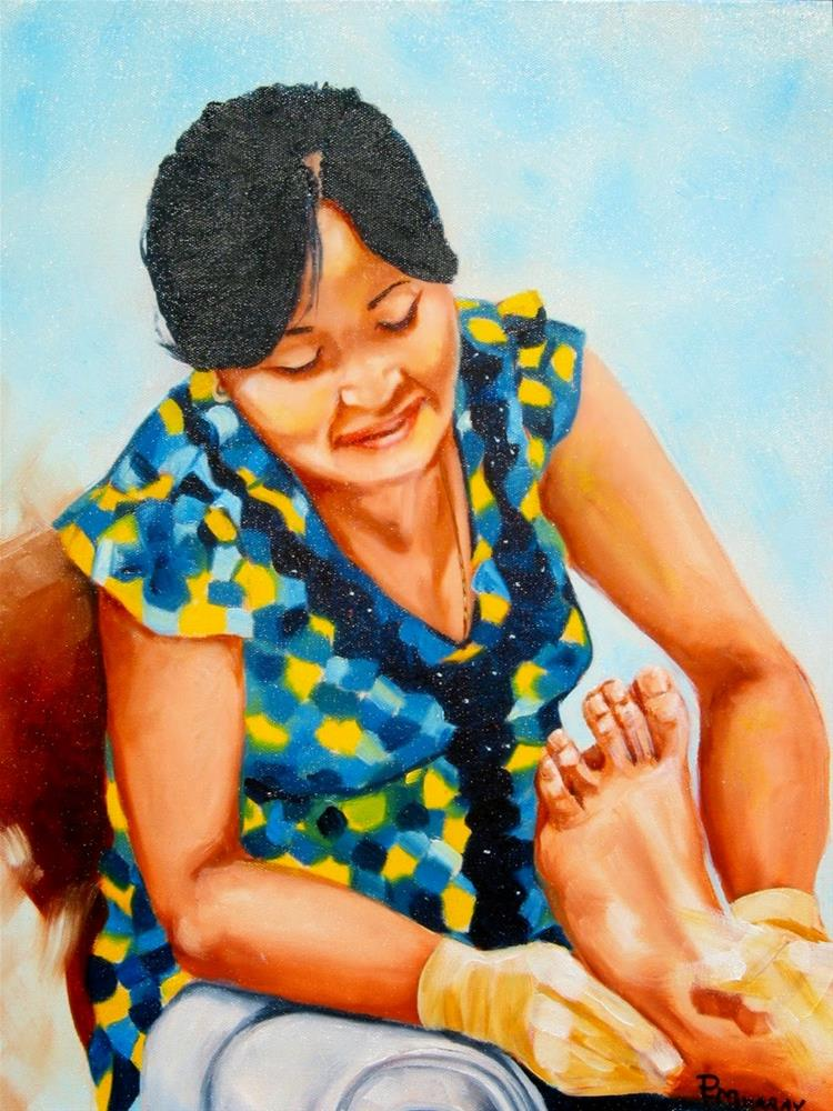 """Pedicure Too"" original fine art by Patricia Murray"