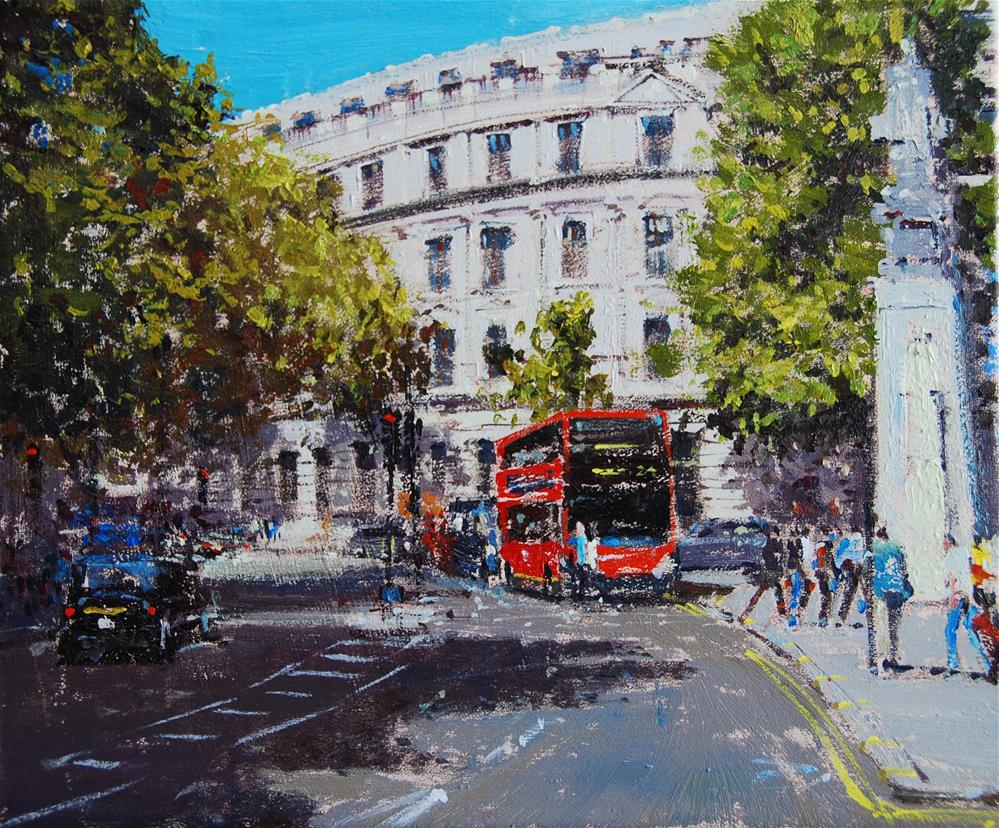 """Summer Light, Charing Cross Road"" original fine art by Adebanji Alade"