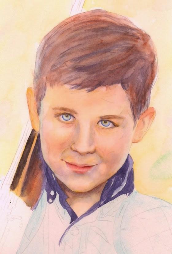 """""""Unfinished, 9x12 Watercolor Portrait"""" original fine art by Carmen Beecher"""