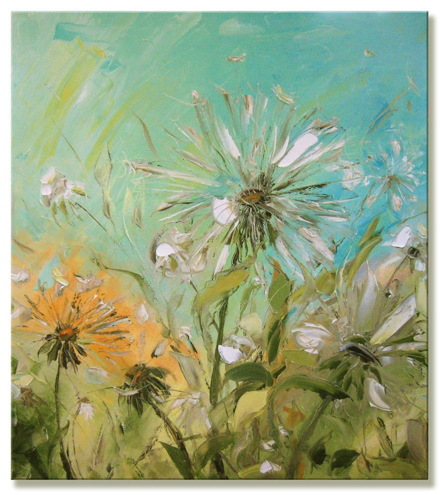 """The Dandelions"" original fine art by Elena Lunetskaya"