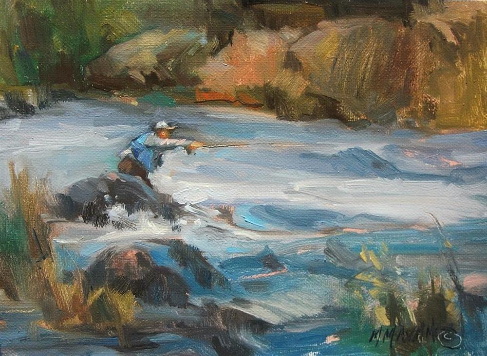 """Long Reach"" original fine art by Mary Maxam"