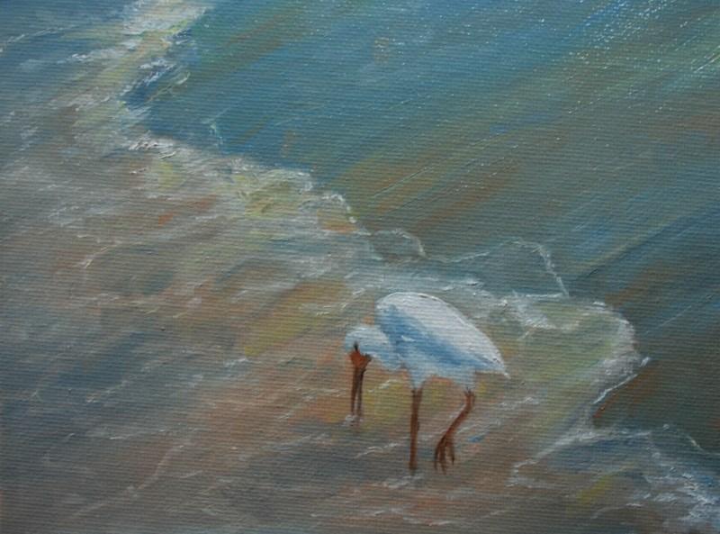 """Sunset Feast"" original fine art by Jean Nelson"