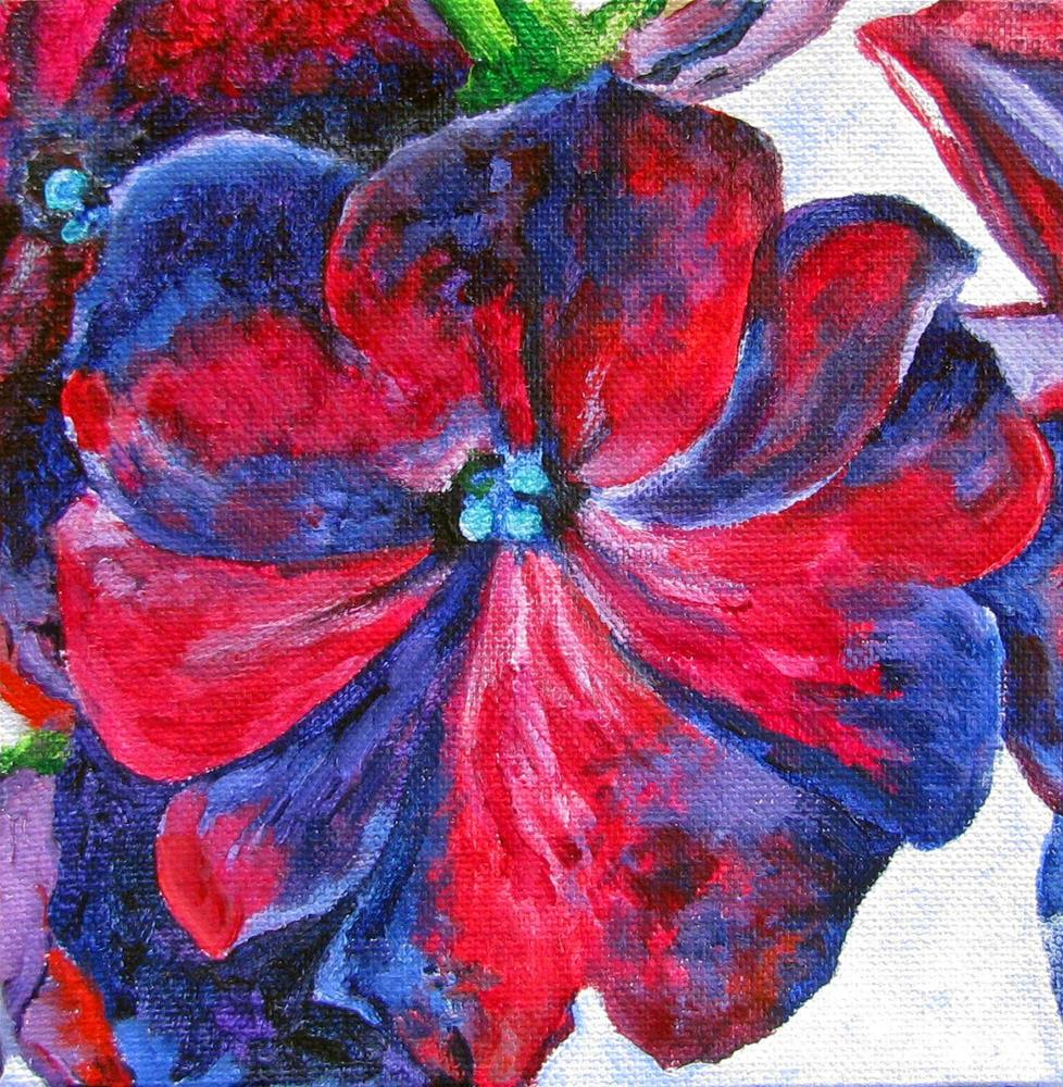 """O'Keeffe's Floral - a variation"" original fine art by Nan Johnson"