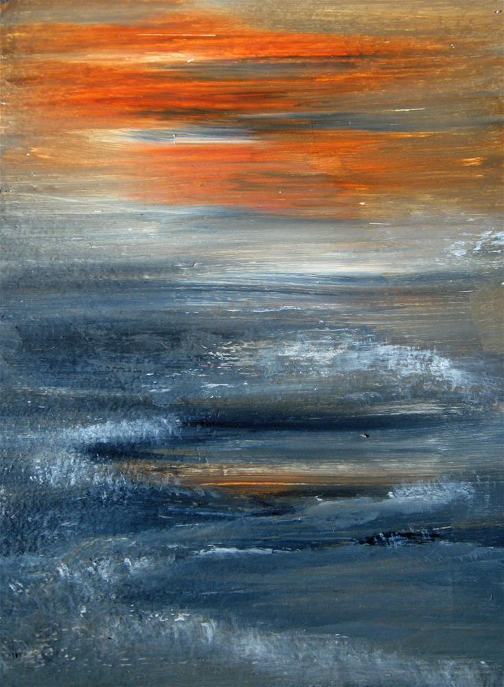 """Winter Sunset"" original fine art by Alina Frent"