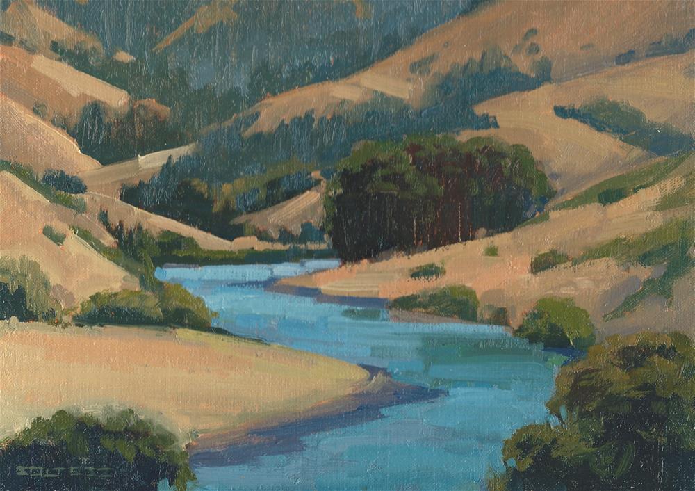 """Russian River"" original fine art by J. Thomas soltesz"