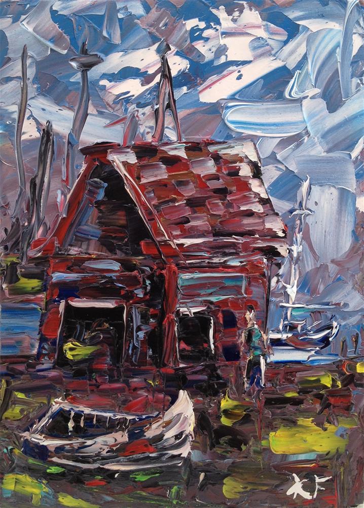 """BoatHouse"" original fine art by Ken Fraser"