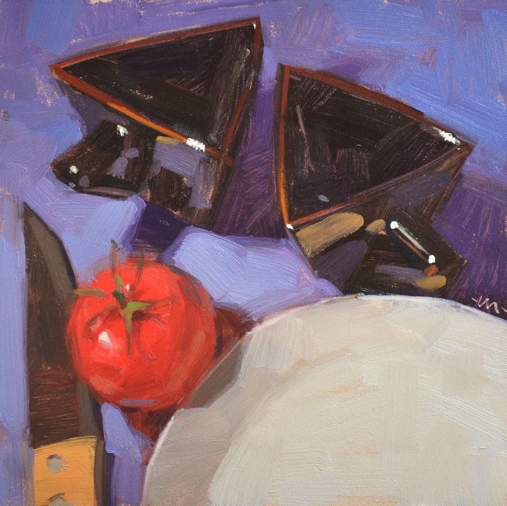 """Triangle Tea"" original fine art by Carol Marine"