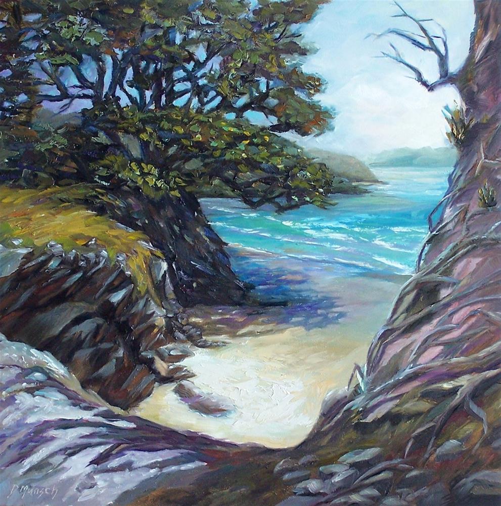 """""""Beach Tree"""" original fine art by Donna Munsch"""