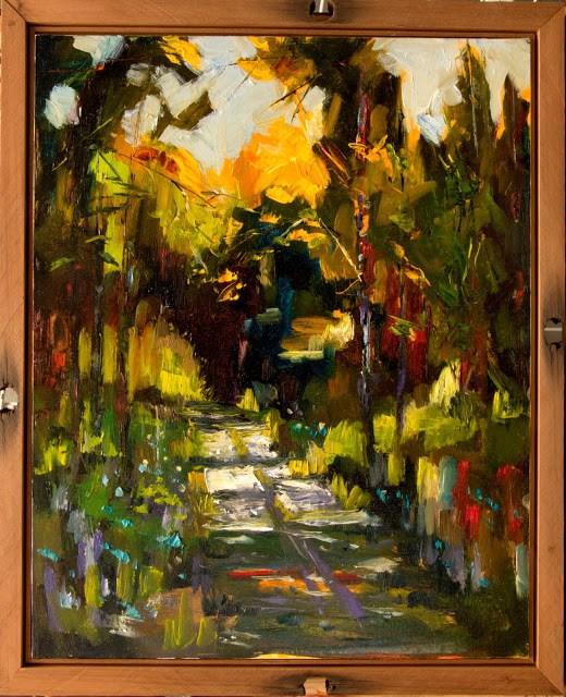 """Artoutwest Framed Landscape Contemporary Original Oil Painting by Montana Artist Diane Whitehead"" original fine art by Diane Whitehead"