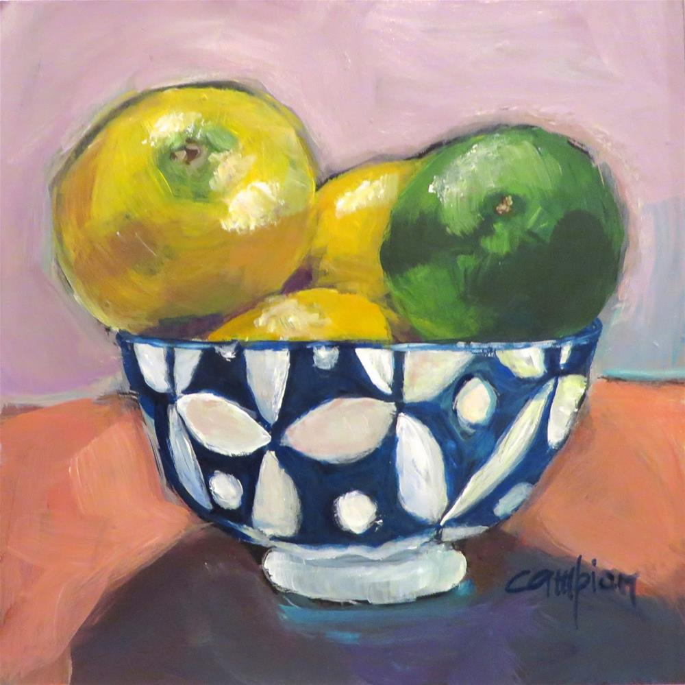 """553 Citrus in the Limelight"" original fine art by Diane Campion"