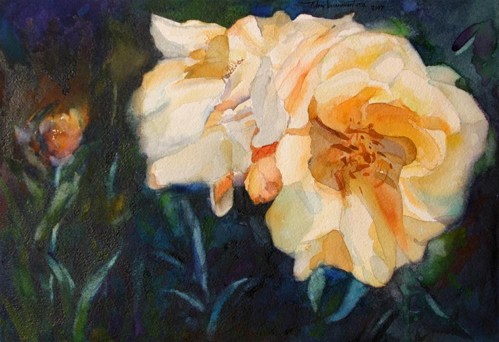 """Yellow Roses"" original fine art by Ann Buenaventura"
